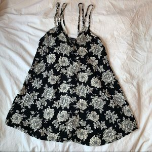 black floral Brandy Melville women's dress top